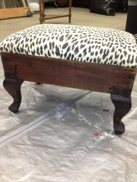 Excellent tut on how to recover a footstool.