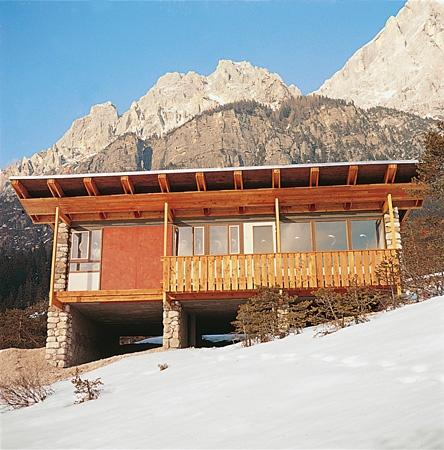 Edoardo Gellner  Villaggio Eni di Corte di Cadore, 1954-63, casa tipo  Foto: Edoardo Gellner, Cortina d'Ampezzo