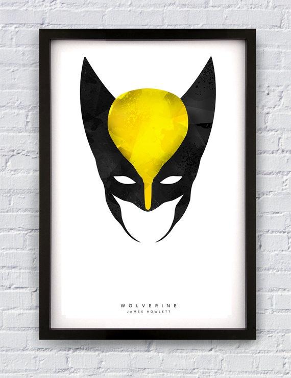 Wolverine Inspired Print - Marvel Comics - Avengers - Xmen - James Logan Howlett - Art