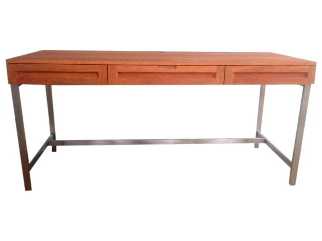 Jesper Cherry Woodland Desk With Steel Legs on Chairish.com