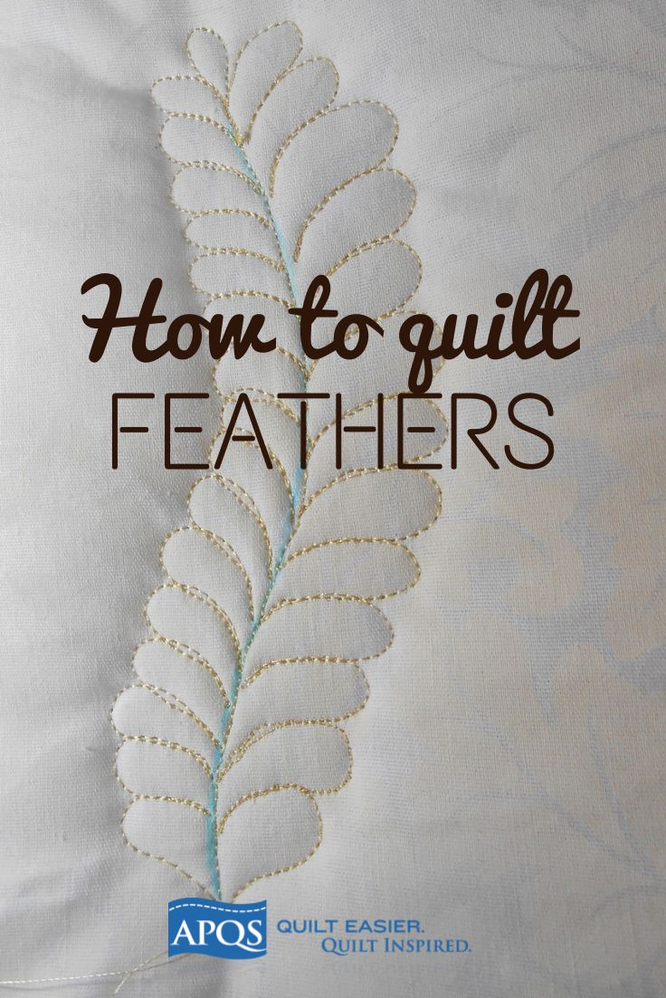 Step-by-step tutorial for 2 methods of quilting feathers.
