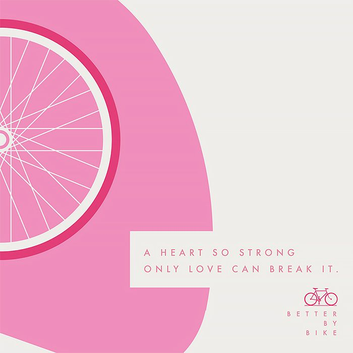Argentinian studio La Comunidad was commissioned by the city of Buenos Aires to produce this colorful series of posters promoting the health benefits of cycling.  More posters via Fubiz
