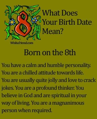 What Does Your Birth Date Mean? - Born on the 8th (And a few of my family members) @vicvicvictoria1 (Luca) @grandmarockz