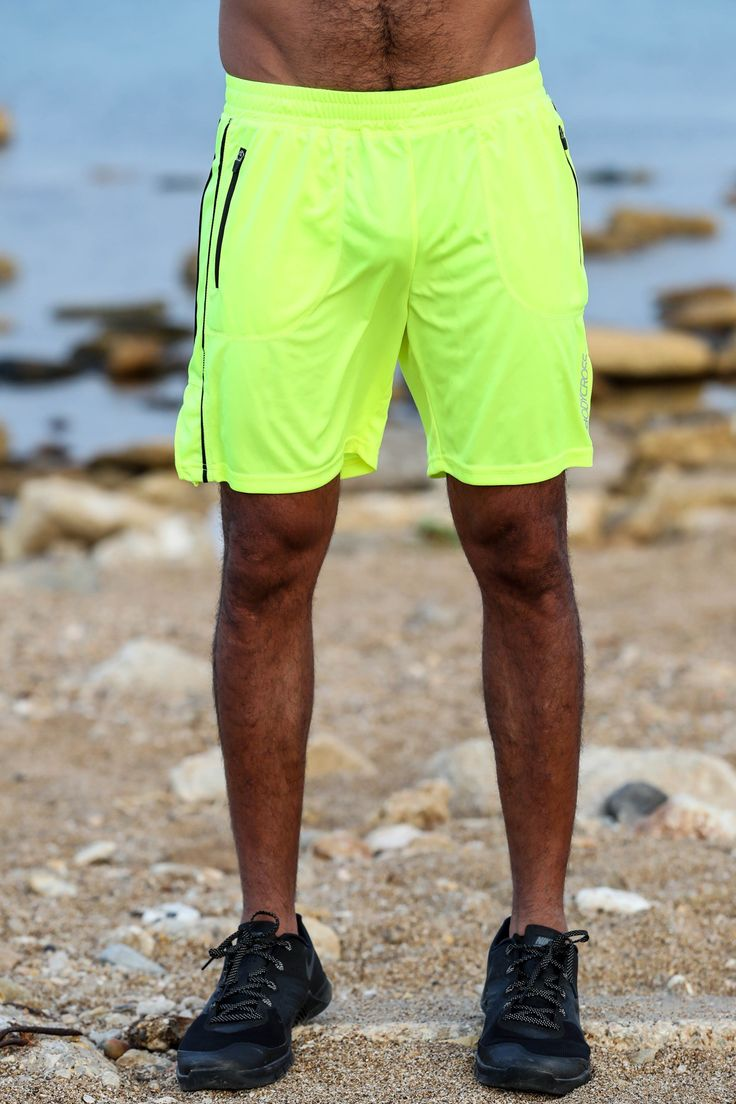 BodyCross Maceo Jaune Fluo Face - Short homme running