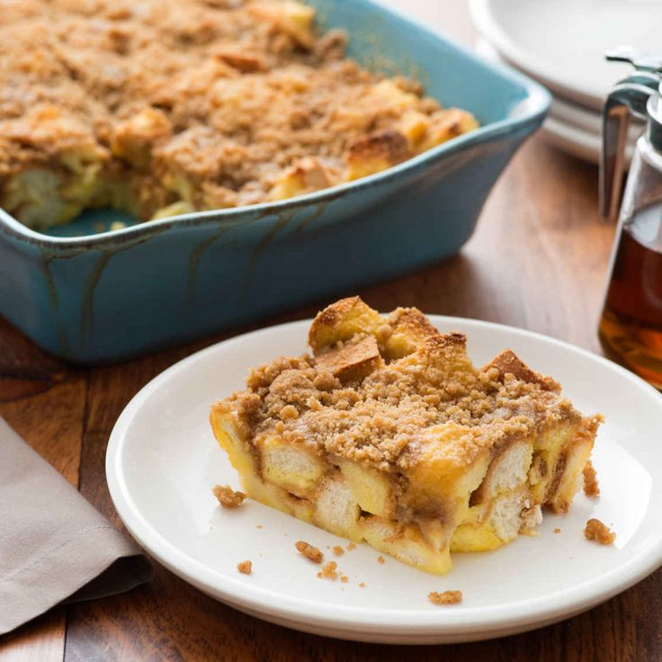 Quick and Easy French Toast Casserole.  Use Challah / Egg Bread.