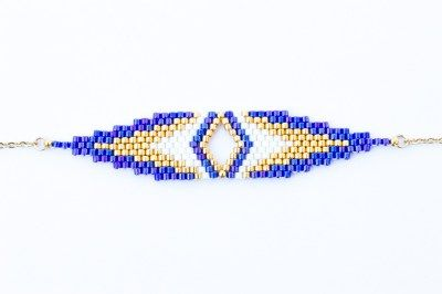 Création Artistic Bracelet - Bracelet CLEO Indigo et Or