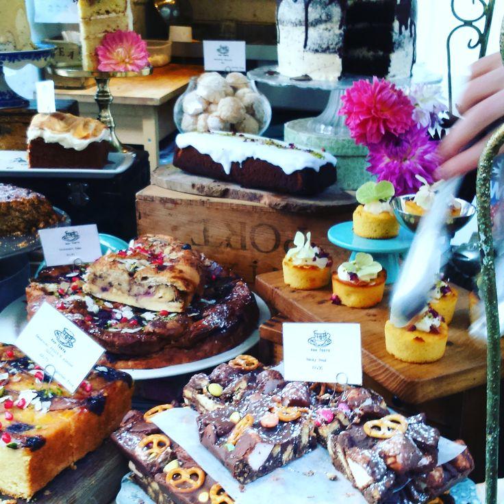 Ahh Toots cake stall at St Nicholas Market, Bristol