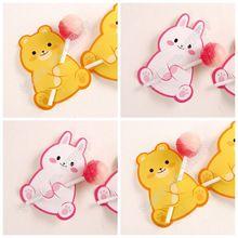 50 cute bear rabbit cake pop holder card,sucker lollipop candy chocolate decor tag(China)