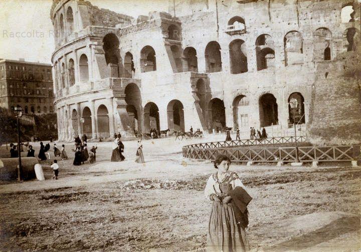 roma fine 800 - colosseo