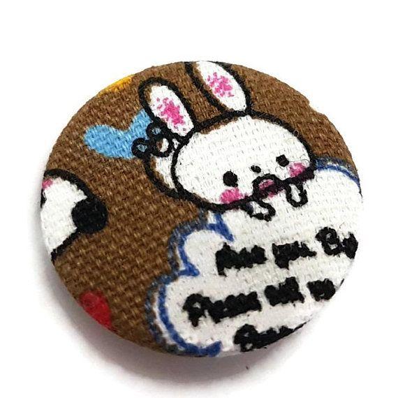 Bunny Pin-Rabbit Pin-Cute Pin-Bunny Badge-Lapel Pin-Kawaii