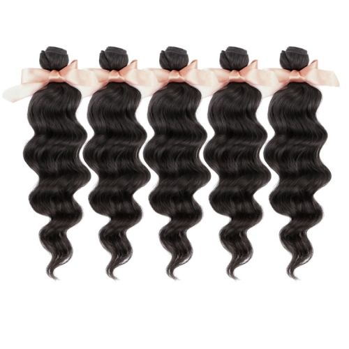 Malaysian Hair Loose Wave Virgin Hair Extensions 5 bundles Unprocessed Human Hair Weaves Cheap Price 12 inch to 26 inch Natural Black