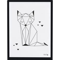 Affiche Origami Renard