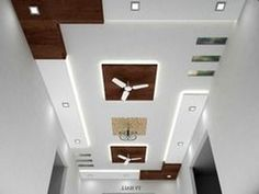 small room ceiling design with 2 fans - Google Search ...