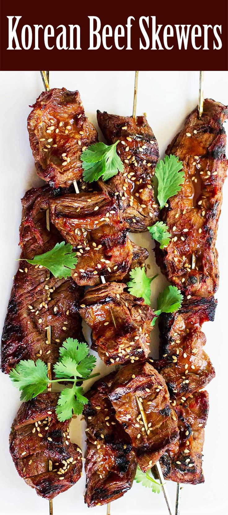 Grilled Korean Beef Skewers! A little sweet, a little spicy. YUM Great for the BBQ! #LaborDay