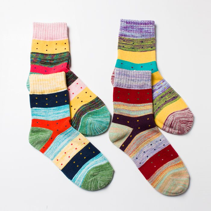 find more information about autumn cotton womens knee high socks national trend vintage color block sock fresh color block stripe decorationhigh quality