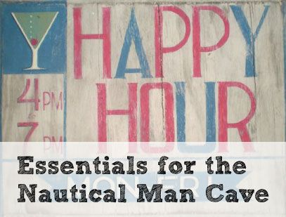 What happens when the man cave meets the sailboat? Nautical man cave.