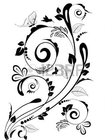 Bordo floreale dell'annata per il Vostro Disegno vettoriale