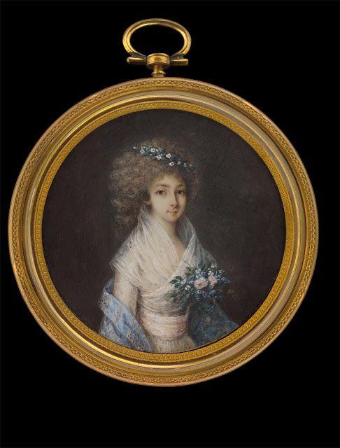Miniature portrait of an Unknown lady by Domenico Garbi,c.1790