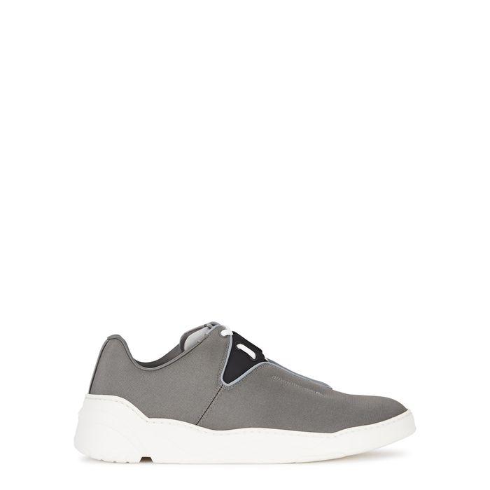 Dior B17 Grey Canvas Trainers | ModeSens