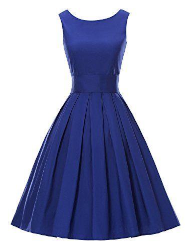 Luouse Robes Vintage 1950's Audrey Hepburn robe de soirée cocktail, bal style années 50 Rockabilly Swing Luouse https://www.amazon.fr/dp/B01DA2XURY/ref=cm_sw_r_pi_dp_v21cxbTNY4PTM