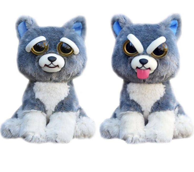 William Mark Feisty Pets Plush Toys With Funny Expression Feisty
