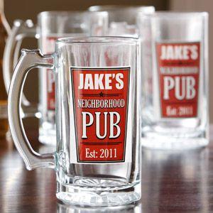 Personalized Neighborhood Pub Beer Mugs, Set of 4