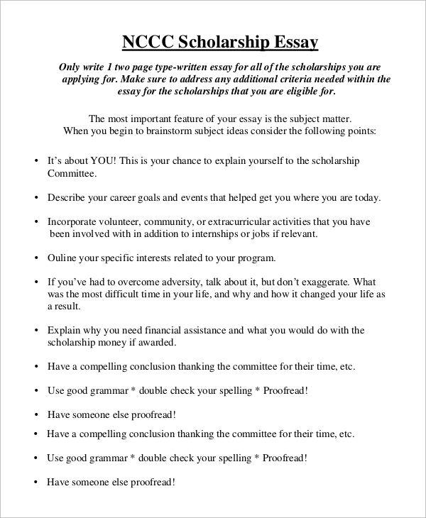 Scholarship Essay Format Scholarship Essay Essay Format Scholarship Essay Examples