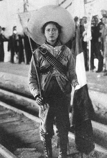 Soldaderas were brave women who fought and helped in the revolution.