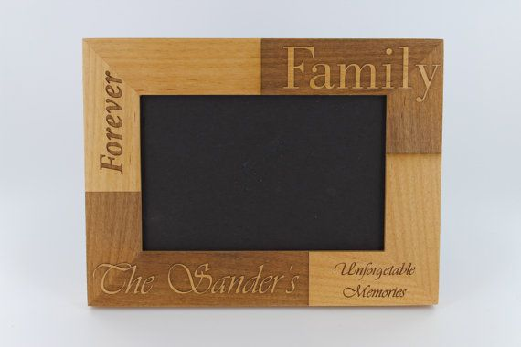 Custom Wood Engraved Photo Frames Personalized by FrooluGiftShop