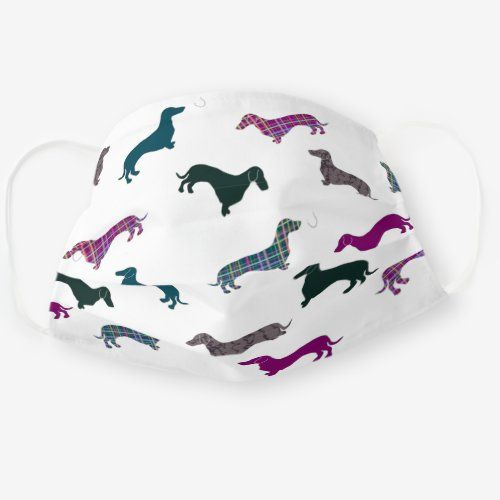 Cute Dachshund Sausage Dog Pattern Cloth Face Mask Zazzle Com In