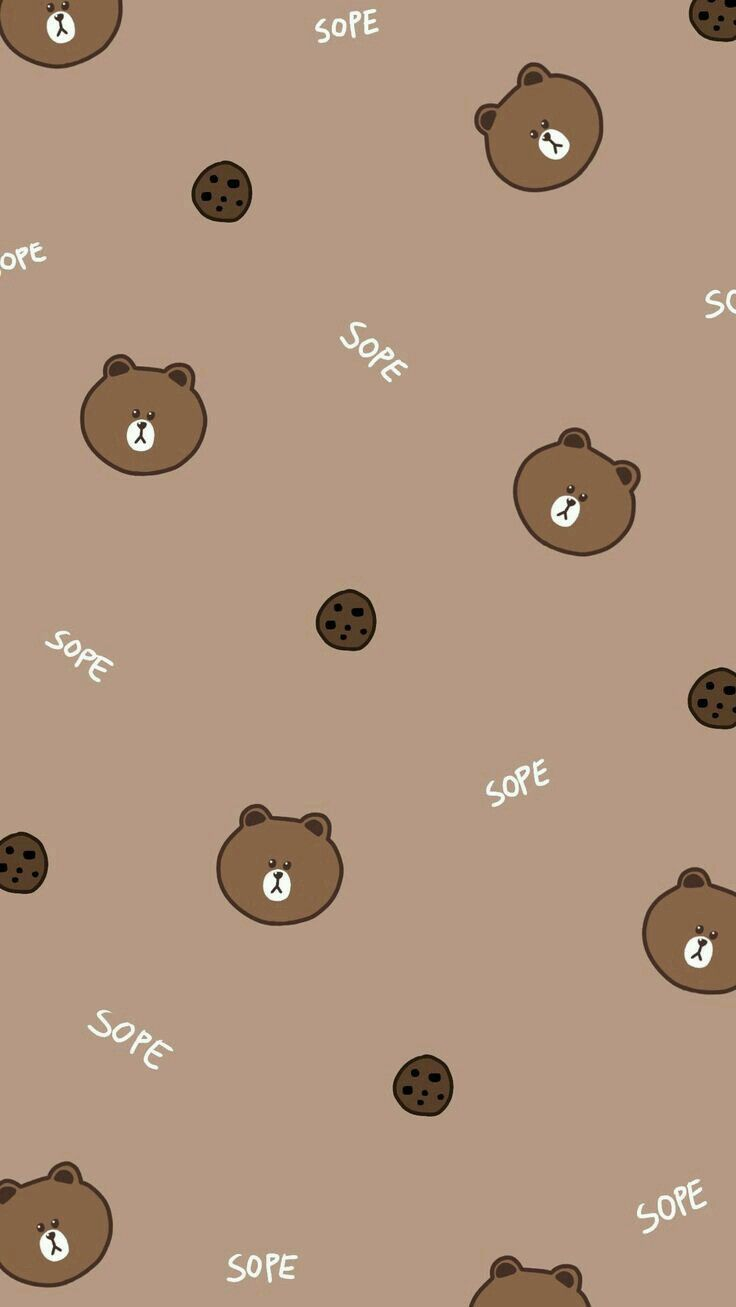 736x1307 Friends Wallpaper Bear Wallpaper Line Friends Brown