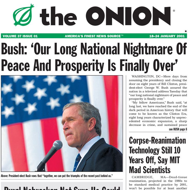 The Onion is an American digital media company. The company publishes satirical articles relating to international, national and local news. The A.V. Club is a section of the website where there are non-satirical articles. The website has a high average of visitors each month.