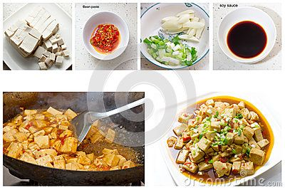 The traditional Chinese food - Braised Tofu.