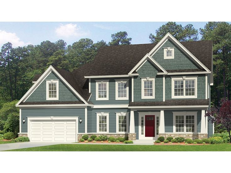 Home Plan HOMEPW77068 is a gorgeous 2472 sq ft, 2 story, 4 bedroom, 2 bathroom plan influenced by  Traditional  style architecture.
