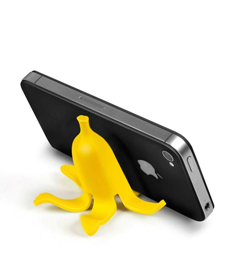 BananaStand - Soporte para celular en forma de banana, accesorios para celular, Antes $48.000 AHORA $33.120 COP. Encuentra más accesorios para el trabajo u oficina en www.giferent.com/regalos-nuevo-trabajo