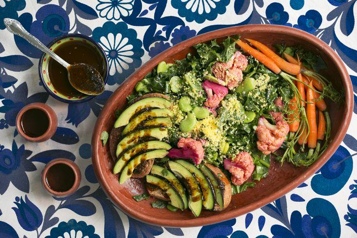 Niki Nakazawa's Mexico City Salad With Avocado Toast and Peanut Chili Salsa | SALAD for President