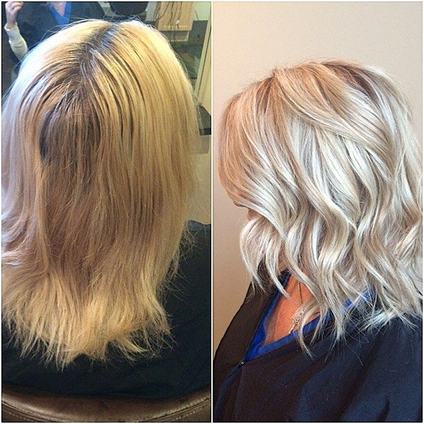Forgot to post this from yesterday  I love blonde-overs! I did a combination of foils and balayage with @redkenofficial #flashlift and lowlight is #redken #chromatics 9nn. Toner is my go-to 9p at the sink on damp hair 20 min