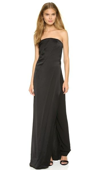 Donna Karan New York Strapless Gown with Trousers