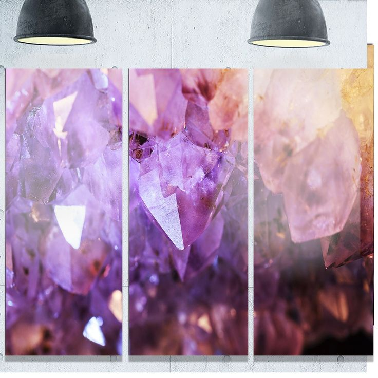 Glossy Crown Wall Decor : Best ideas about amethyst geode on stone