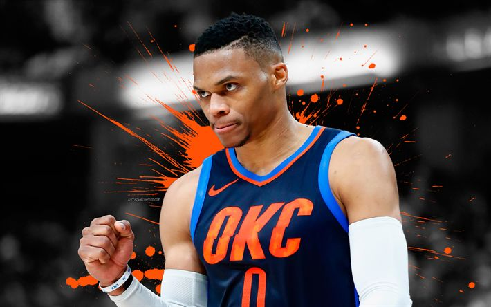 Download wallpapers Russell Westbrook, Oklahoma City