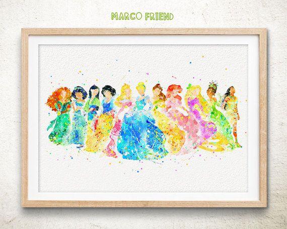 Reproduction daffiche dArt aquarelle princesse par MarcoFriend