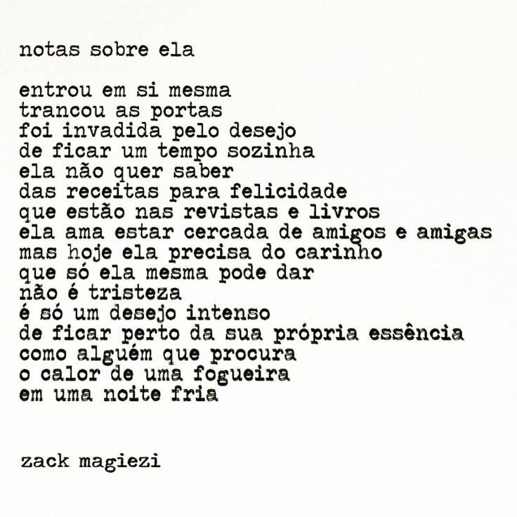 """Notas sobre ela. #zackmagiezi #notassobreela"""