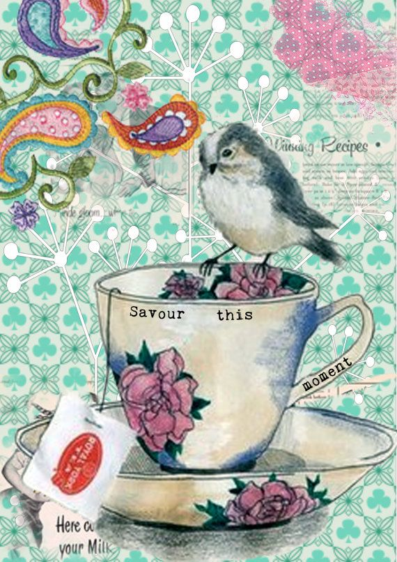 savour this moment - a5 digital collage print. $11.23, via Etsy.
