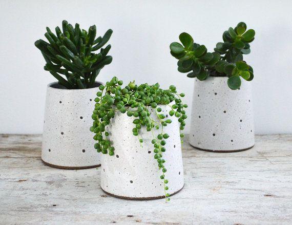 Plantador de gres - plantador suculentas maceta cerámica - cerámica jardinera-