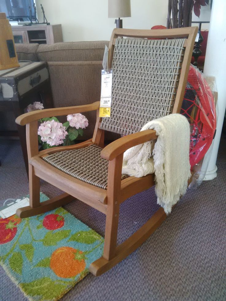 Porch Rocking Chair Made From Eucalyptus Hardwood In-Stock at Reliable