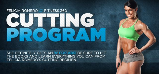 Felicia Romero Cutting Program.  Now that I have finished Jamie Eason's Livefit I might as well give this one a shot!