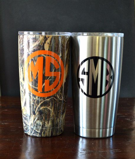 Personalize Your Yeti Tumbler With A Monogrammed Decal If