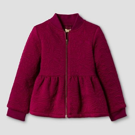 Toddler Girls' Peplum Bomber Jacket - Red 4T - Genuine Kids from Oshkosh™ : Target