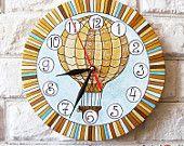 Золотой шар настенные часы Home Decor для детей Детские Малыш мальчик девочка Nursery игровая комната полосы