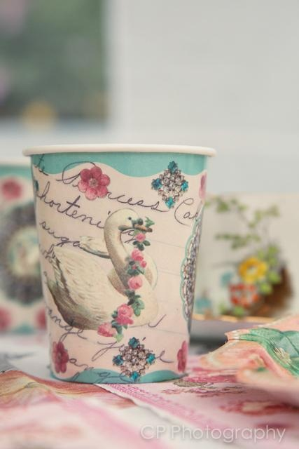 The other design of vintage cups, pack of 12 for £3.99 at www.fuschiadesigns.co.uk.